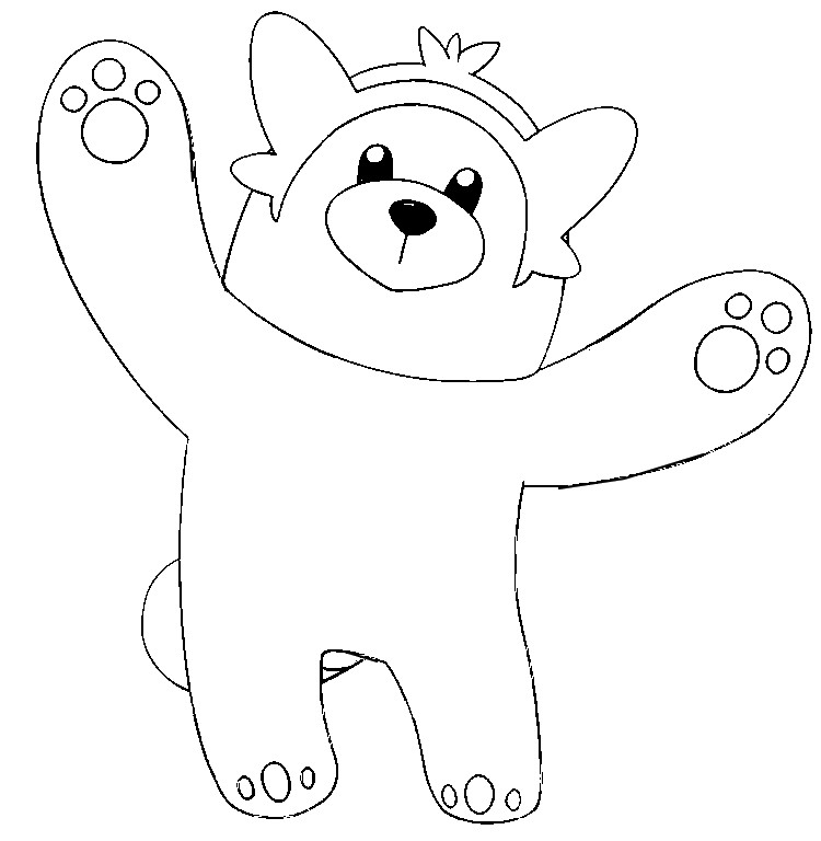 Coloring Page Pokemon Sun And Moon Bewear 25