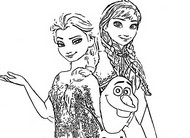 ぬりえ アナと雪の女王2