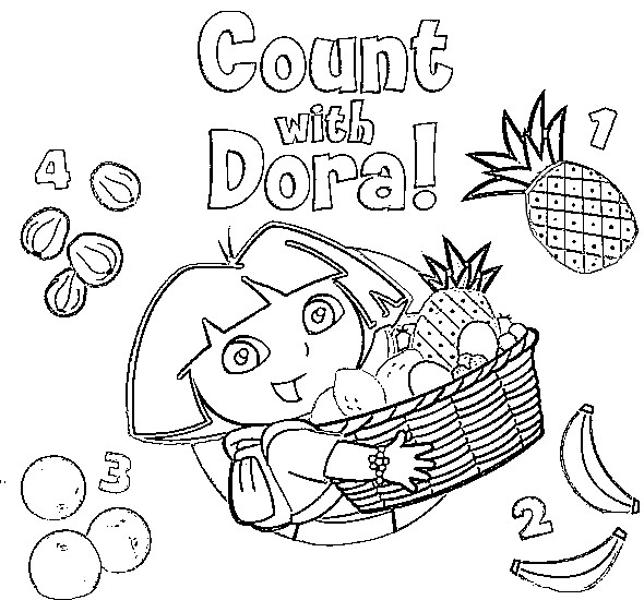 Dora Coloring Pages For Toddlers