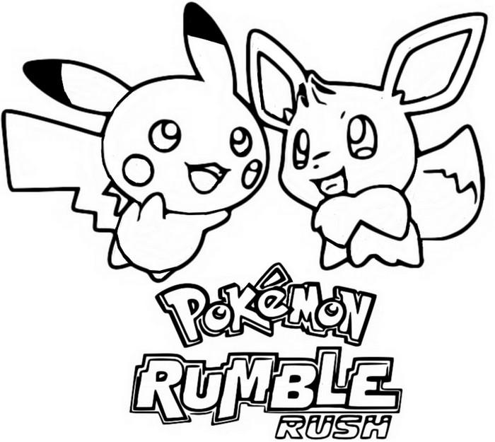 komputer ando pokemon ausmalbilder evoli