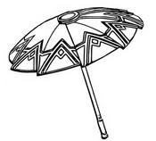 ぬりえ 傘