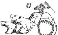 ぬりえ サメ