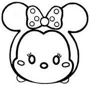 ぬりえ ミニーマウス
