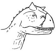 ぬりえ カルノタウルス