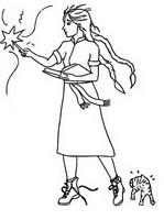 색칠 꼴찌 마녀 밀드레드