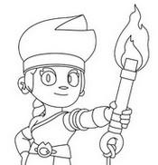 ぬりえ 新キャラクター:アンバー