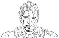 ぬりえ Tony Stark and Iron Man