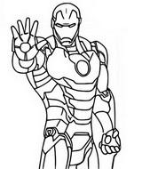 ぬりえ Iron Man
