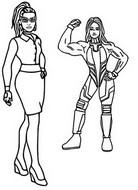 ぬりえ Jennifer Walters and She-Hulk