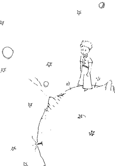 высыхает картинки раскраски к маленькому принцу дел