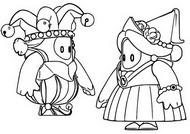 ぬりえ 中世のスキン