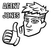 ぬりえ エージェントジョーンズ