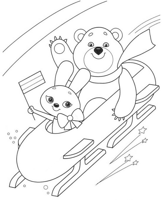 Coloring page Winter Sports 8