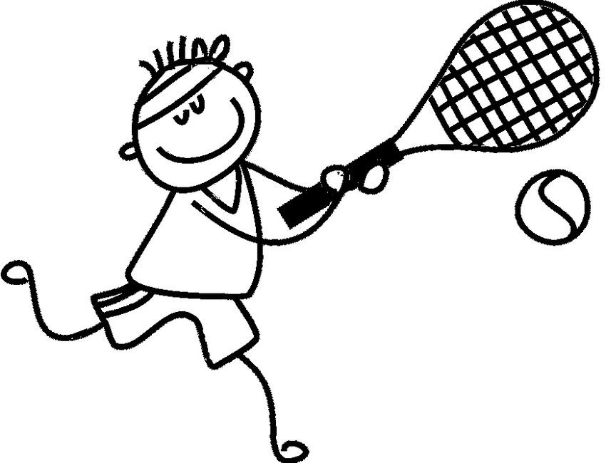 Теннис картинка рисунок