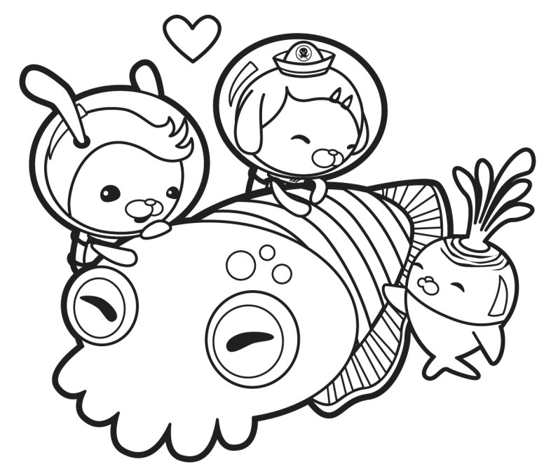 octonauts coloring pages dashi granules - photo#20
