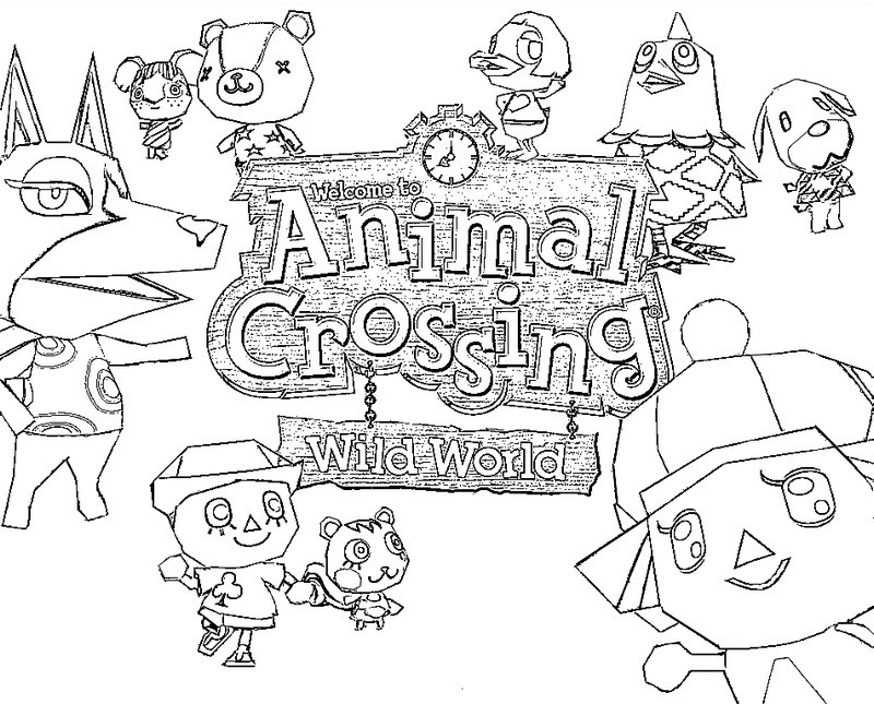 Coloring Page Animal Crossing 1 Animal Crossing Coloring Pages