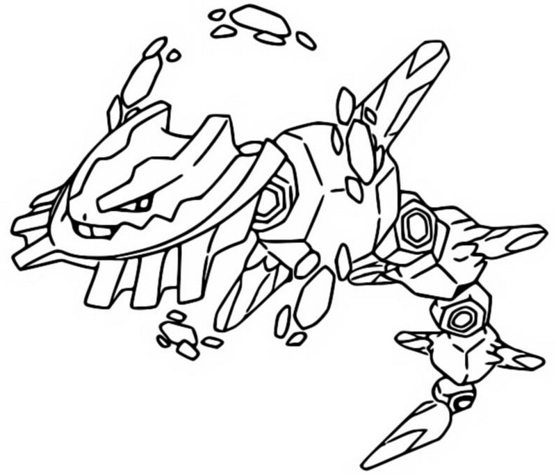 Coloriage Evolution Pokemon.Coloring Page Mega Evolved Pokemon Mega Steelix 208 208