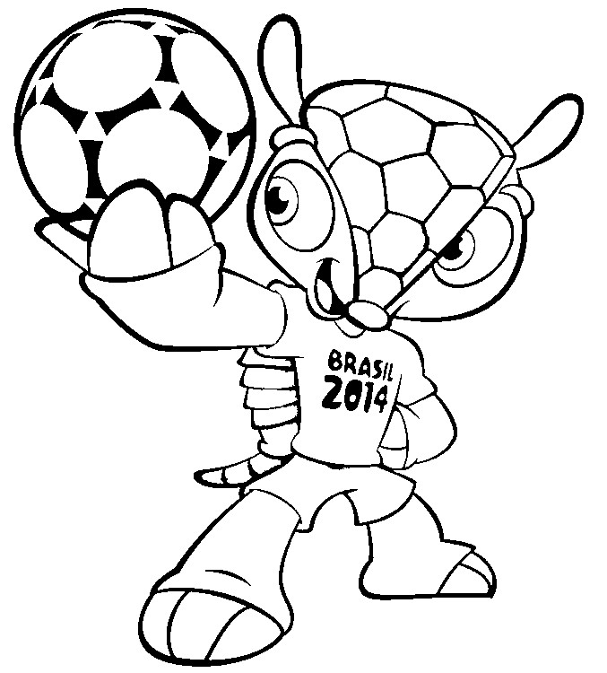 Coloring Page 2014 Fifa World Cup Mascot 1 World Cup Coloring Pages