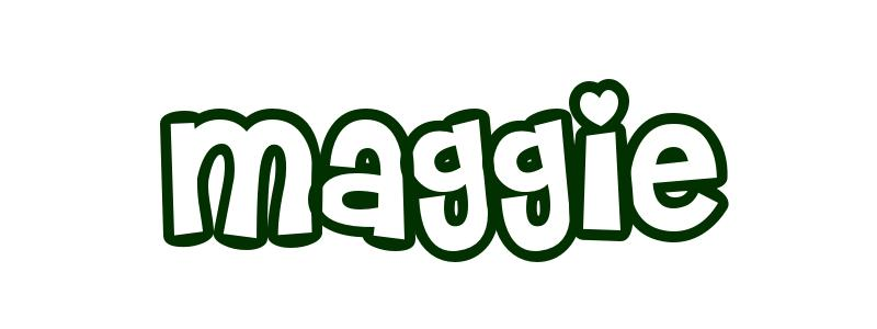 Coloring Page First Name Maggie