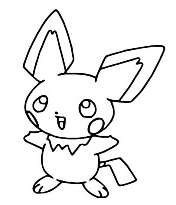 coloring pages pokemon pichu drawings pokemon