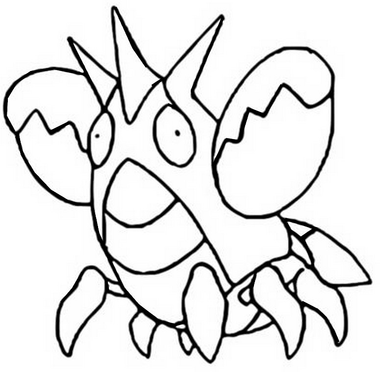 pokemon corphish coloring pages - photo#4
