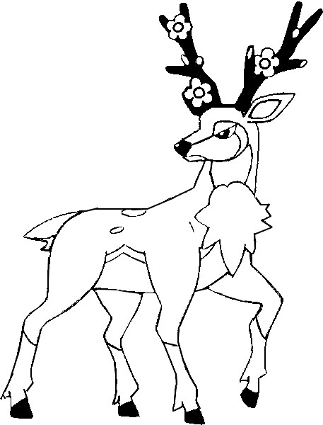 pokemon sawsbuck winter coloring pages - photo#4